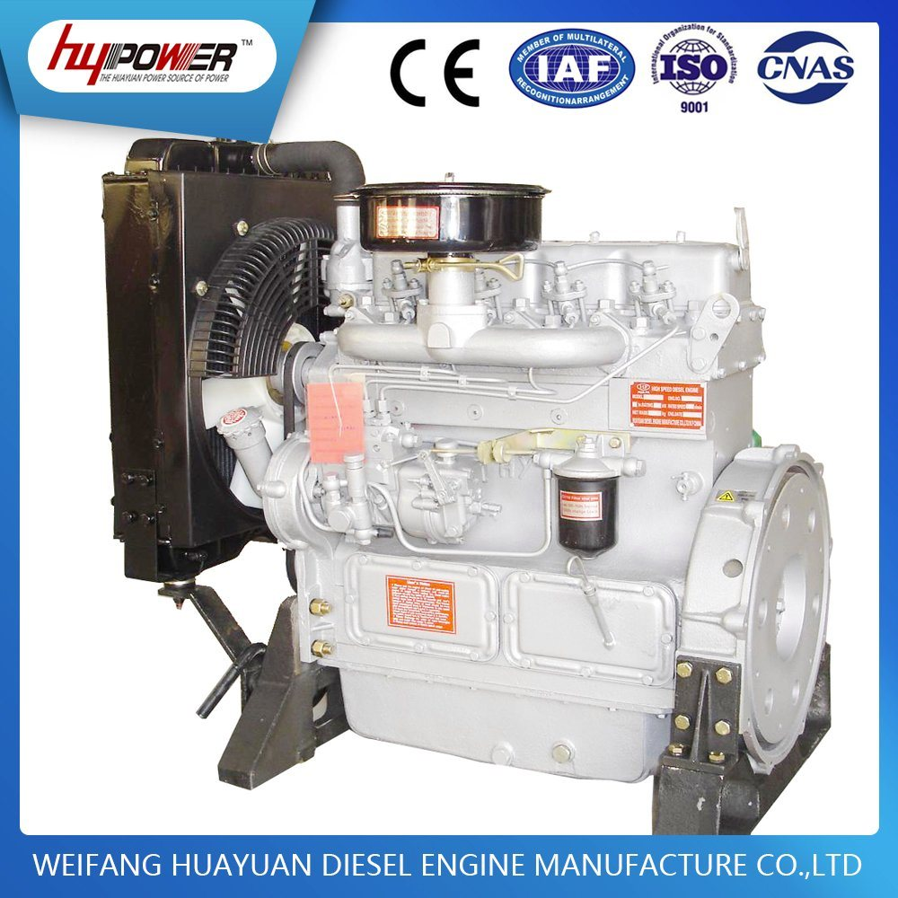 Weifang 30kw/40HP K4100D Diesel Engine with Water Cooled 1500rpm