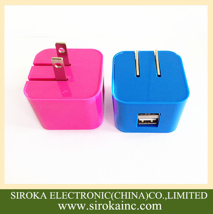 Us Folding Plug Universal Dual USB Mobile Travel Charger 5V 2A AC Adapter Charger for Smartphone