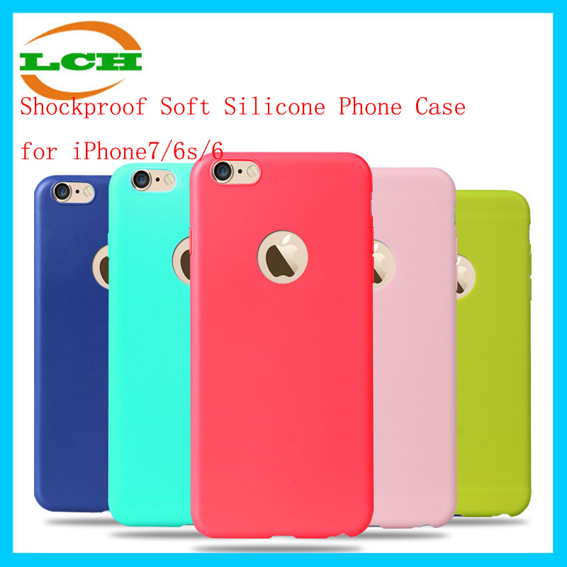 Shockproof Soft Silicone Phone Case for iPhone7/6s/6s