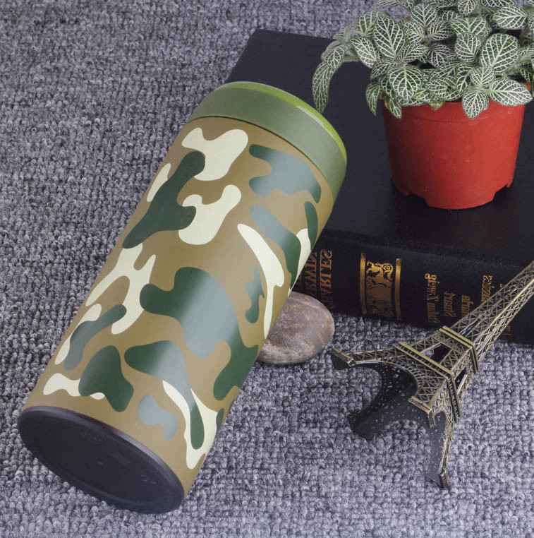 2017 New Product Outerdoor Stainless Steel Camouflage Bullet Warm Cup