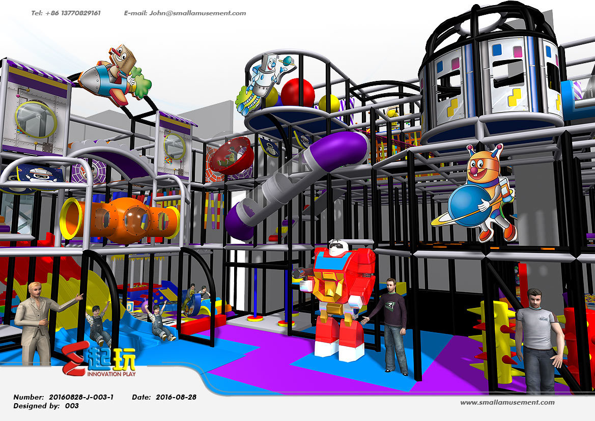 Professional Manufacturer Space Themed Indoor Playground Equipment