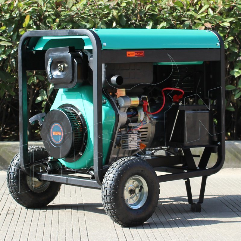 Bison (China) OEM Factory 5000W 5kw 5kVA Copper Wire Portable Dg5500 E Diesel Generator From China Manufacturer