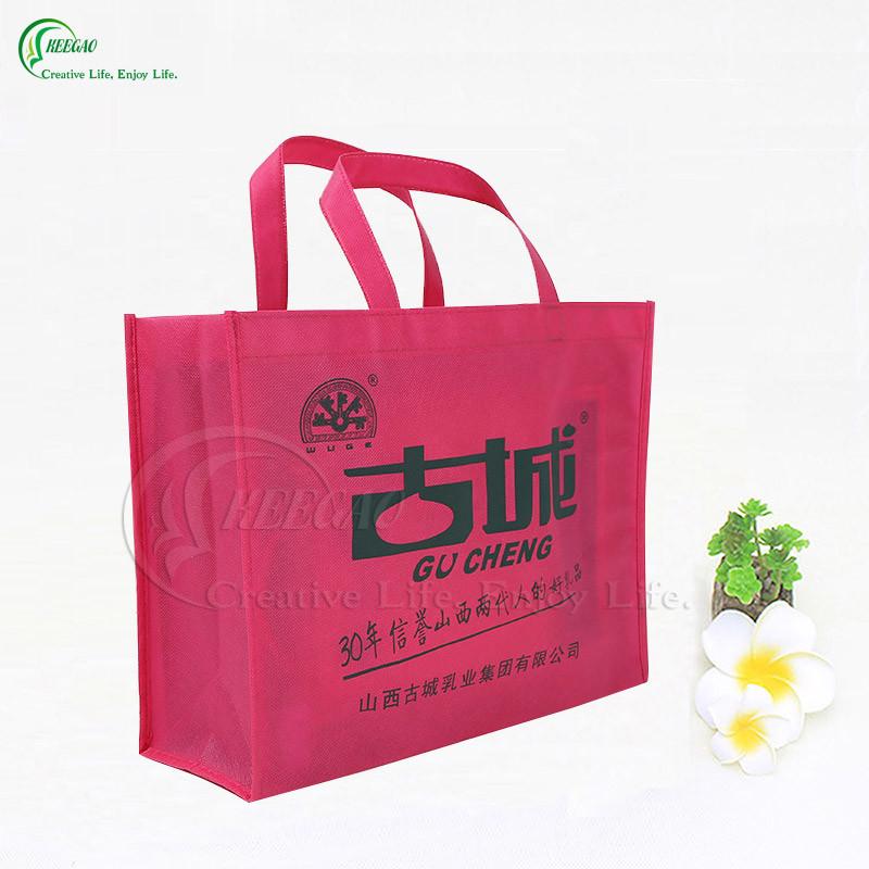 Promotional Logo Printed Shopping Non Woven Bag (KG-PN004)