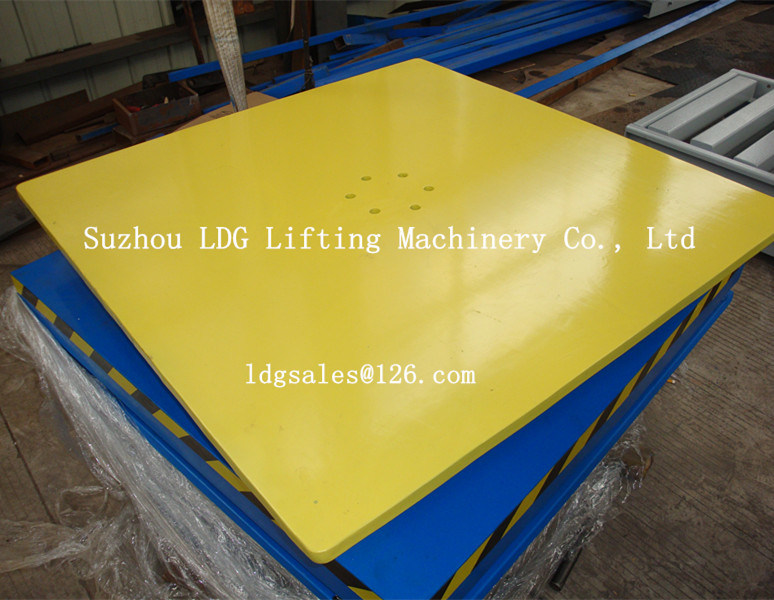 Warehouse Hydraulic Scissor Lifter with Rotation Table