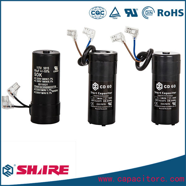 CD60 Type Motor Starting Capacitors for AC Compressors Capacitor