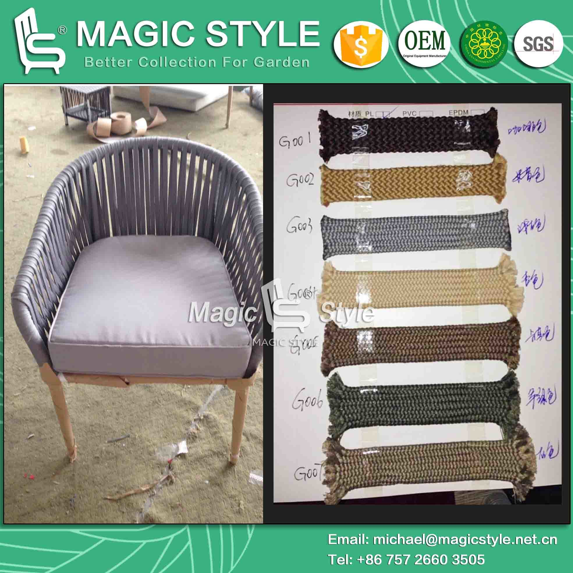 Tape Weaving Sofa with Cushion Corner Sofa with Pillow (Magic Style)