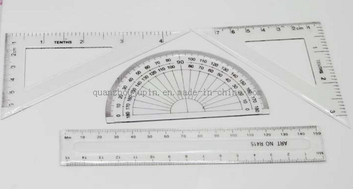 OEM New Product Plastic Student Ruler Set and Office Stationery