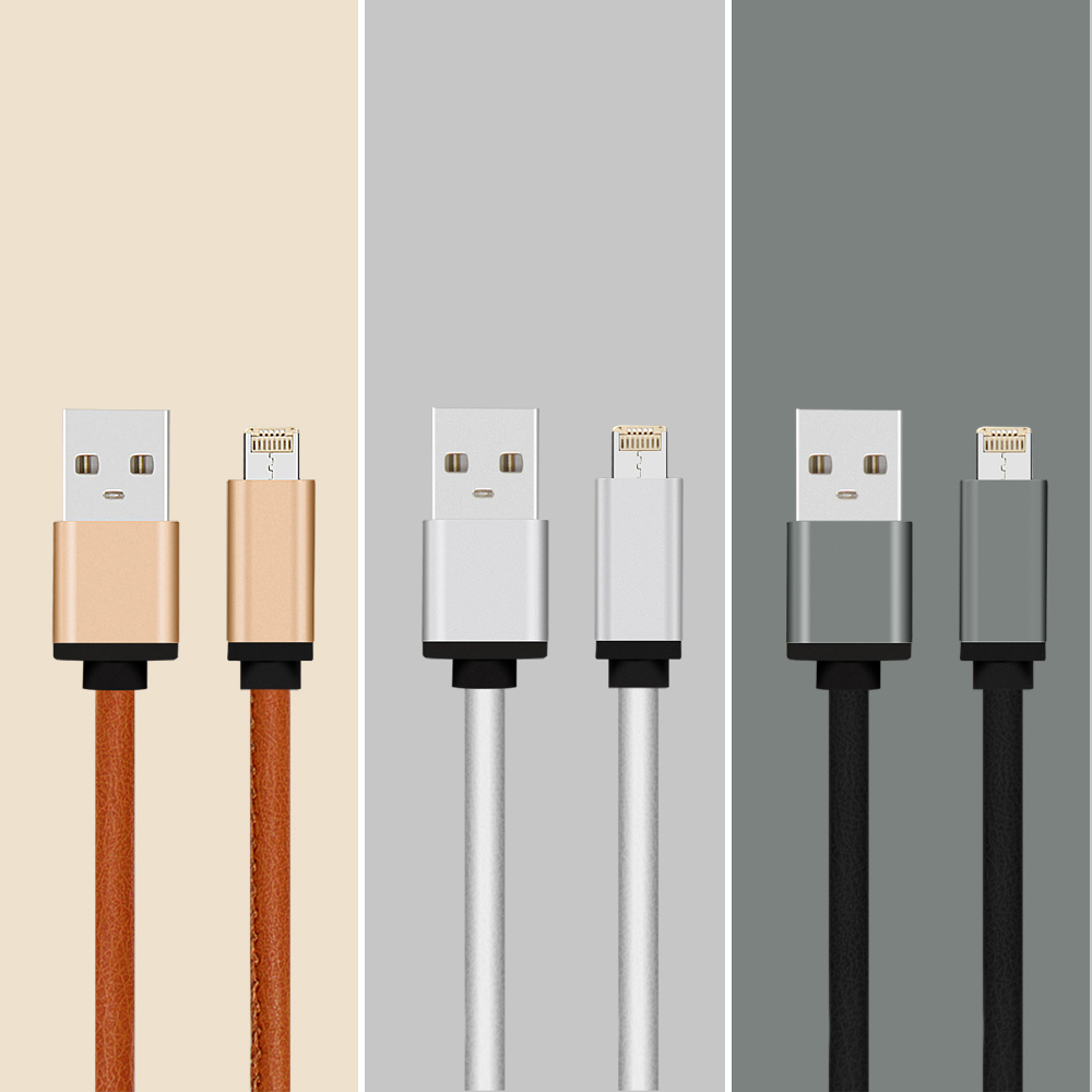 5V 2.4A PU Covered Charging and Data Cable for Samsung, iPhone