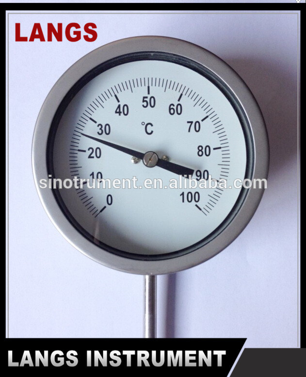 """012 Hot Water Thermometer and 2.5"""" Lip on Thermometer"""