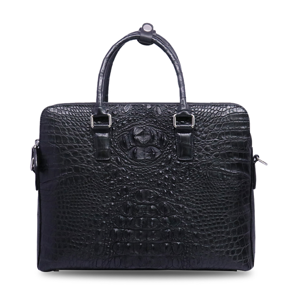Men Genuine Leather Business Briefcase Crocodile Laptop Bag Computer Briefcase