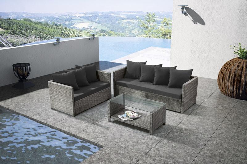 Low Price Hot Sale Modern Rattan Sofa 3 PCS Set Outdoor Furniture (LN-900)