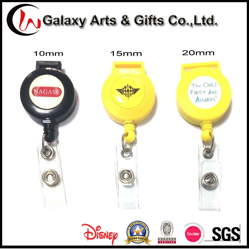 Lanyard Accessories Plastic Retractable Lanyard Badge Reel