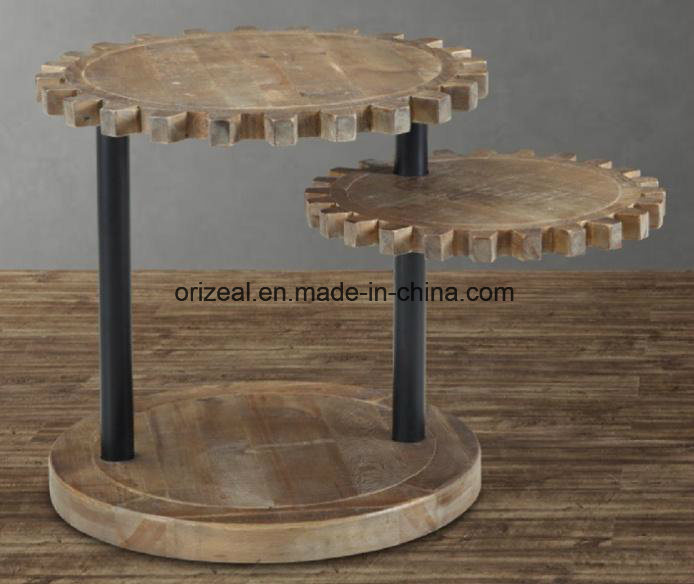 Antique Reclaimed Rustic Wood Coffee Table, Industrial Coffee Table in Rustic Wood