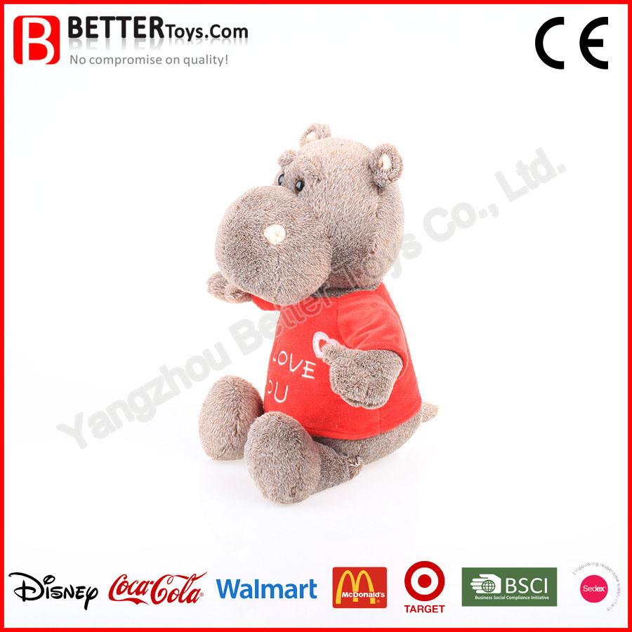 Lifelike Soft Stuffed Animal Plush Hippo Toys