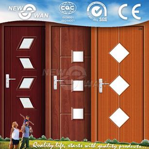 Cheap Interior PVC Wooden Door with CIQ Soncap