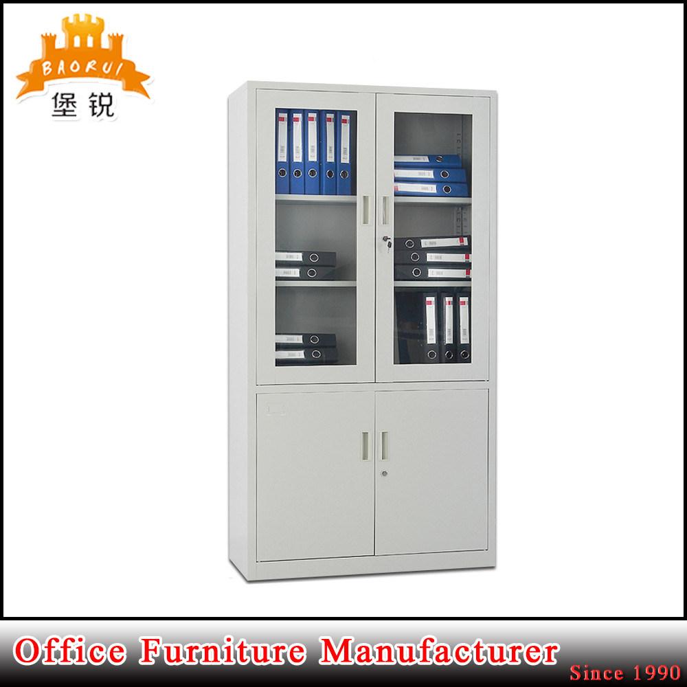 Galss Door Modern File Book Cabinet/Sliding Door Steel Book Cabinet