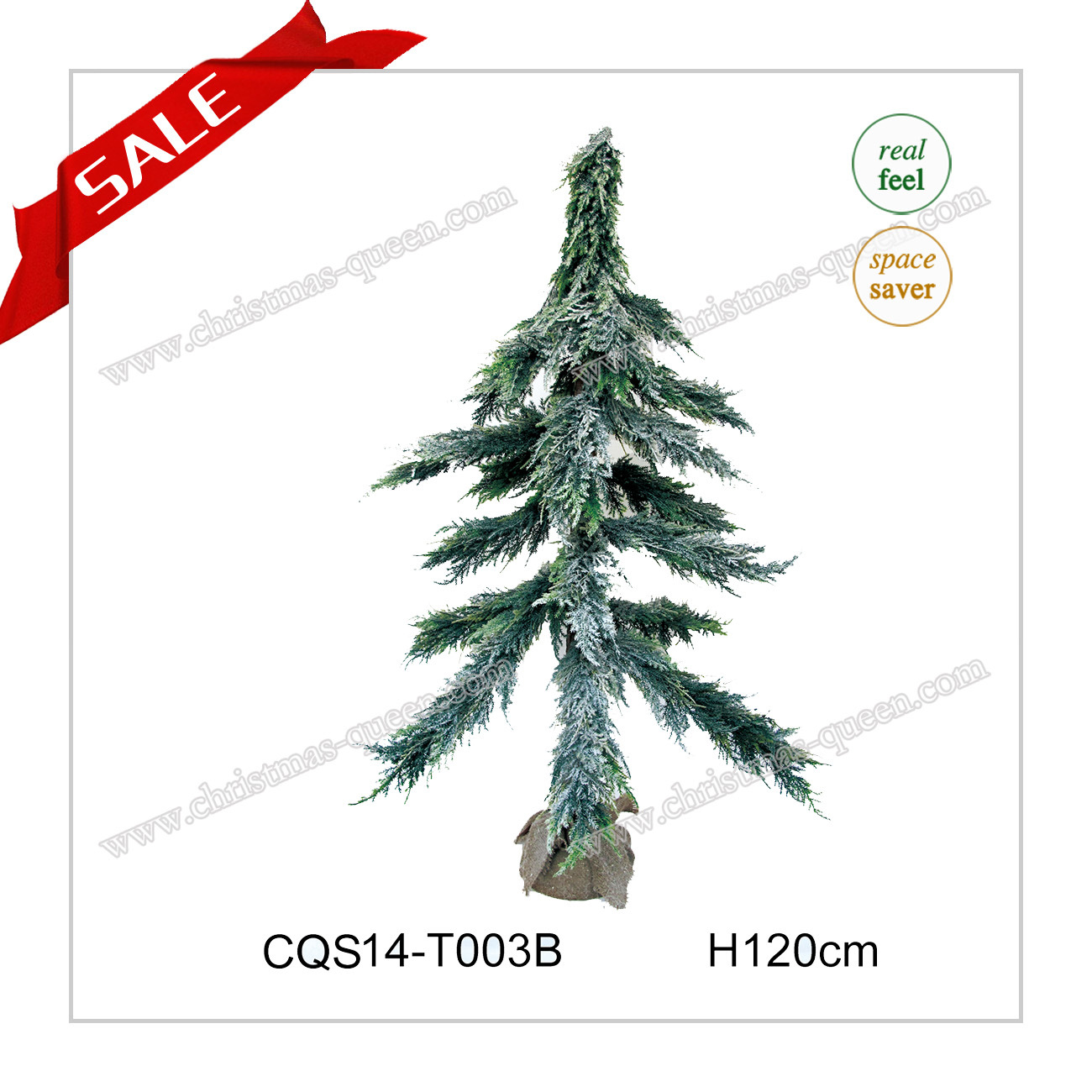 H5 Feet Landscape Christmas LED PE Pine Tree Christmas Ornament