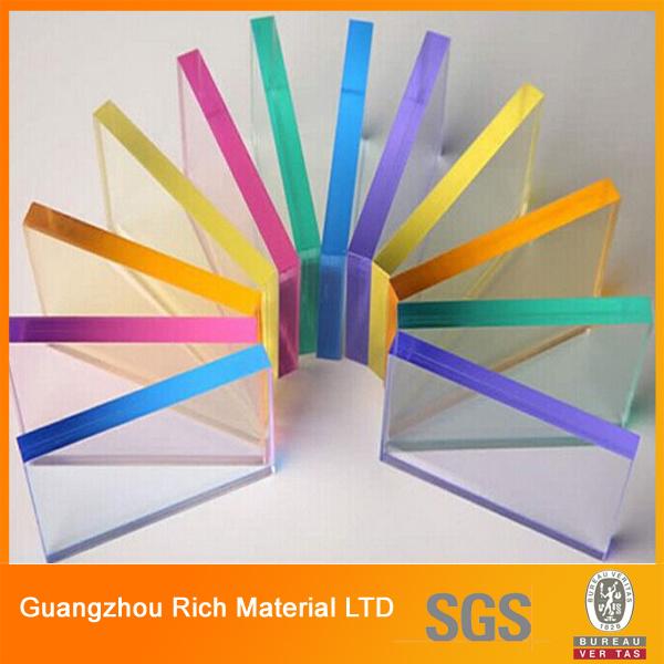 Translucent Color Cast Acrylic Sheet Plastic Perspex Sheet