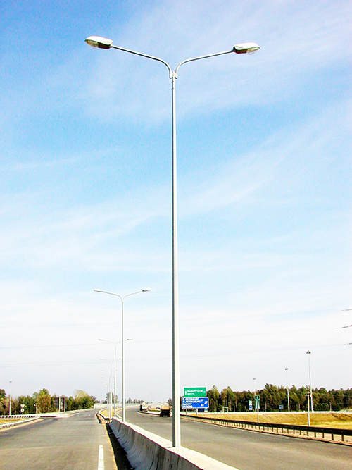Outdoor Lighting Galvanized Steel Pole