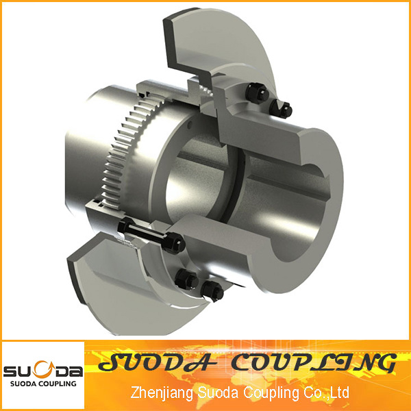 Suoda Gear Coupling with Brake Plate Good Quality High Transmission Efficiency Gap Type