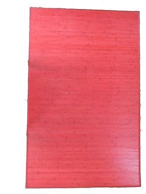 Bamboo Area Rugs/Mats Light Natural Color Red Color Black Color