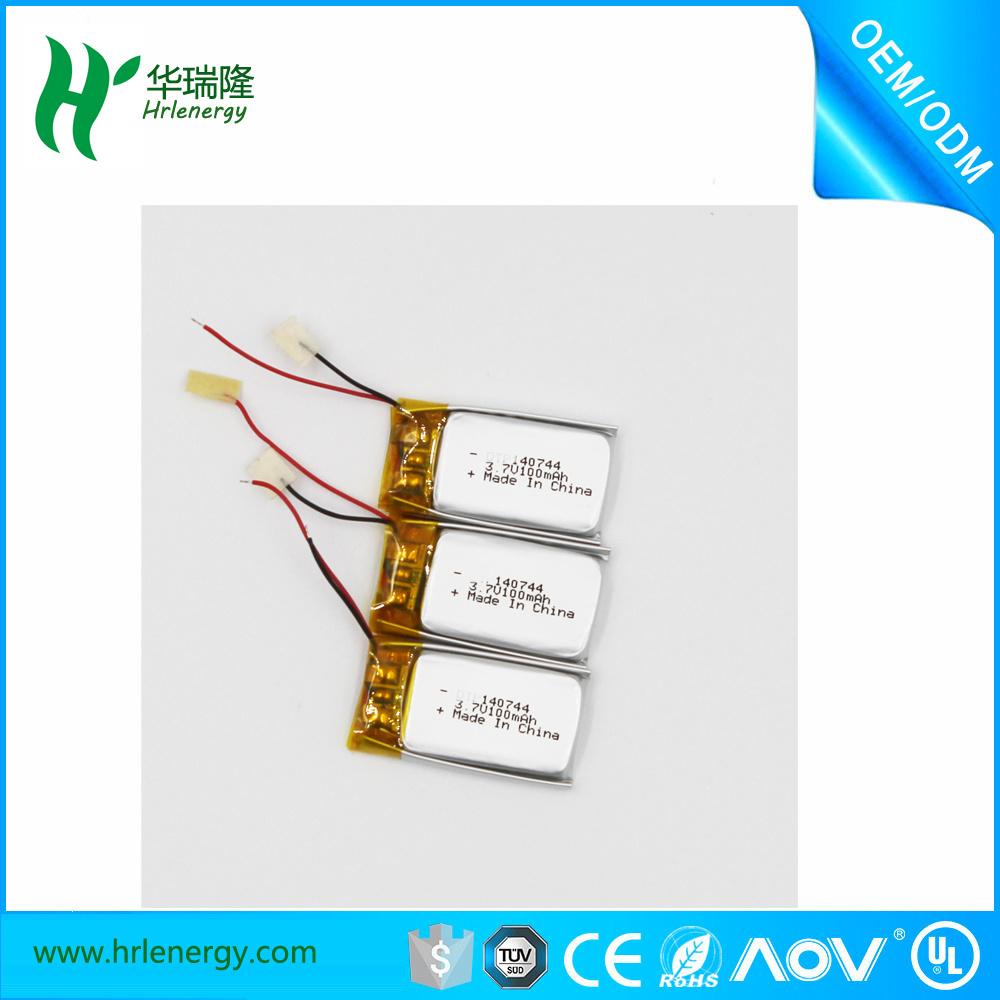 Professional Supplier Lithium Battery 100mAh 3.7V (140744)