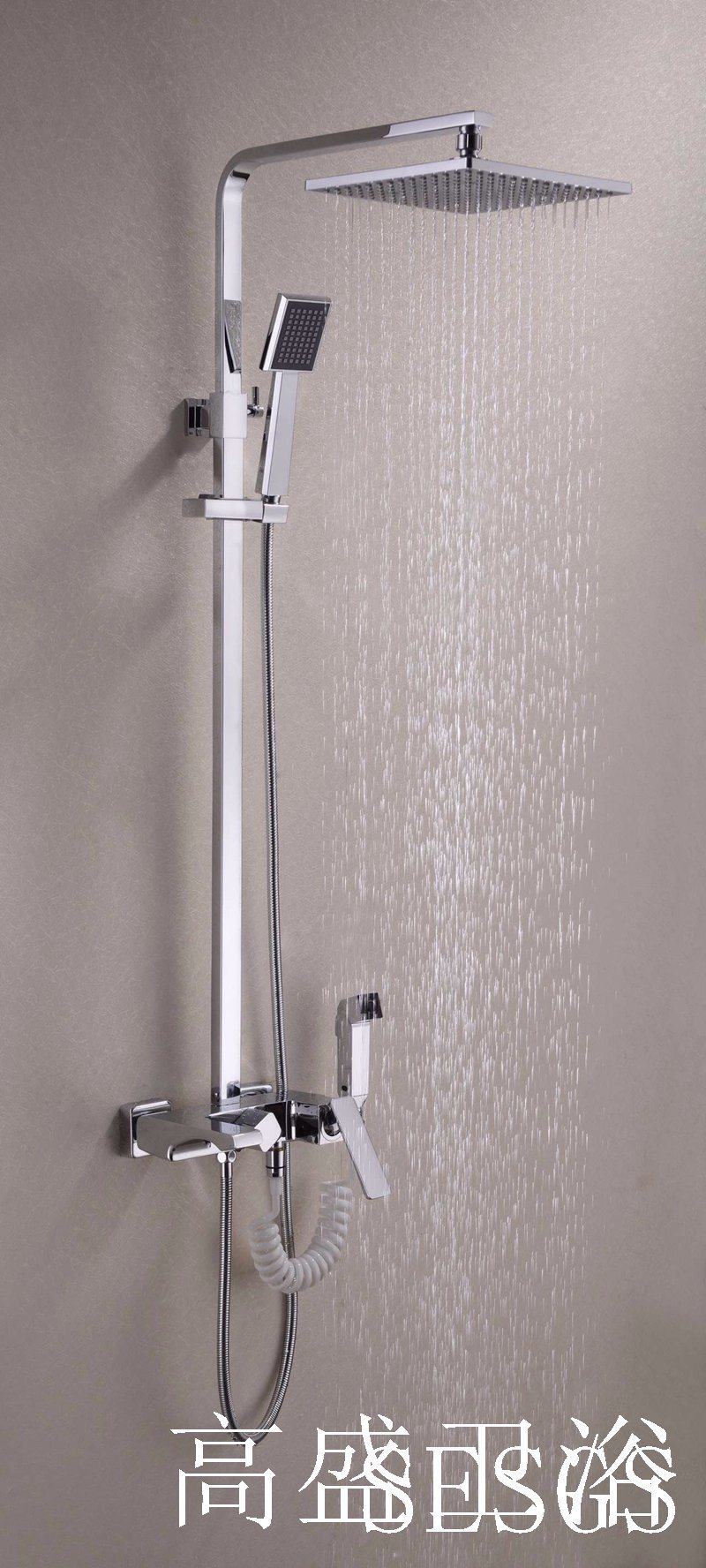 201 New Design Chinese Blue-and-White Ceramic Single Handle GS-052 Brass Rain Shower Set