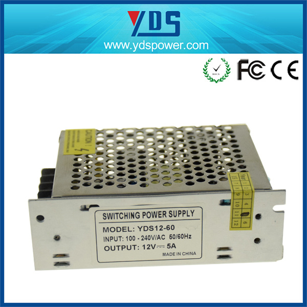 60W 12V 5A LED/CCTV Switching Power Supply