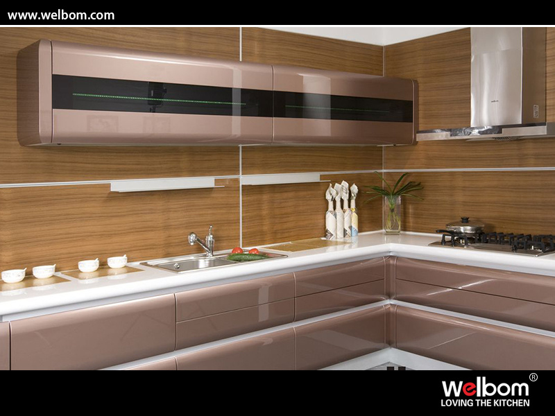 China high gloss or matt finish kitchen cabinet design for High gloss kitchen cabinets