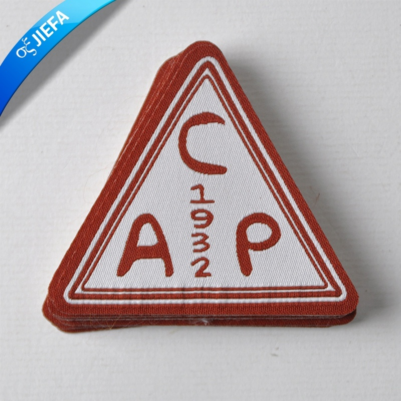 Factory Price Brand Logo Triangle Woven Patch