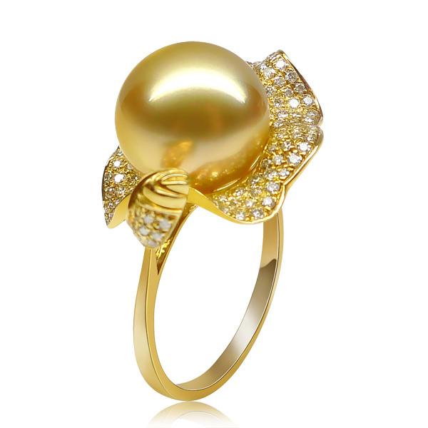 Attractive and Newest Fashion Pearl Copper Rings Gifts (FQ-9068)