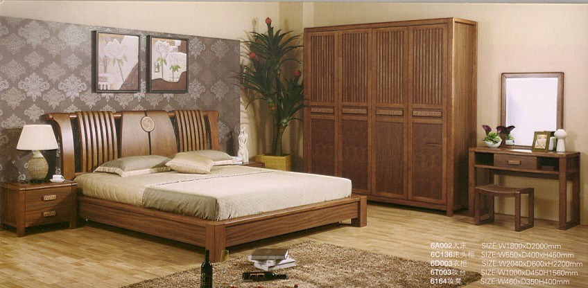 High quality solid bedroom set 6a002 china wooden for High quality bedroom furniture