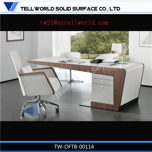 China modern executive office counter table italian design for Table design for office