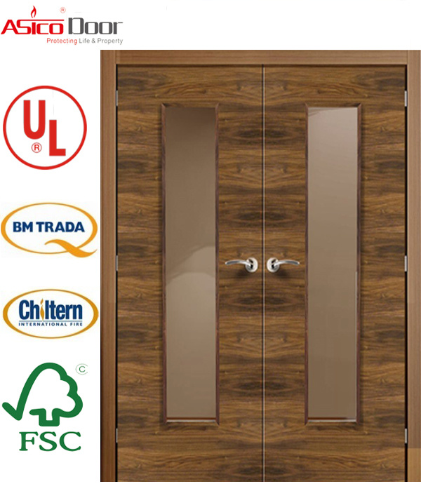 Wooden Door Fire Door with BS 476 Certified 120minutes Timber Door Safety Door