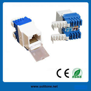 CAT6A FTP 180 Degree Keystone Jack