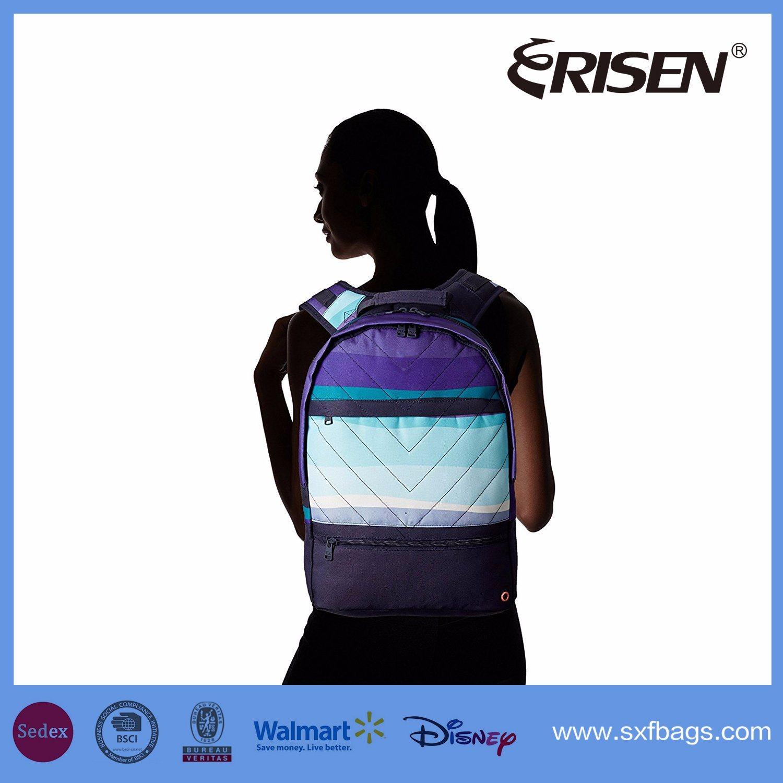 Polyester Waterproof Travel School Sport Backpack Bag