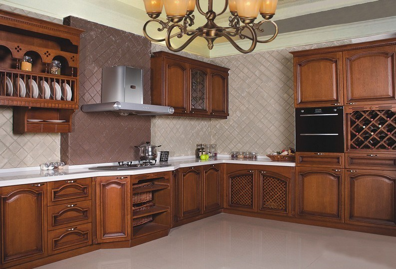 New 2014 Luxury Solid Wood Kitchen Cabinet (European style)