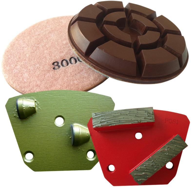 Resin Bond Diamond Rigid Polishing Pads for Wet or Dry Polishing Concrete Floor