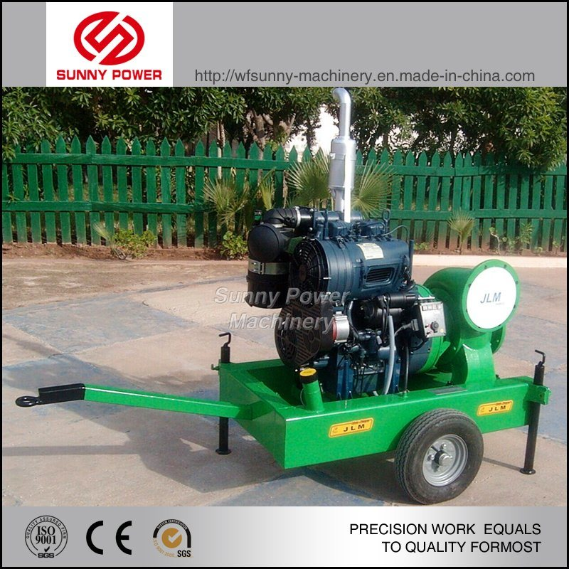 6inch Diesel Water Pump for Agricultural Irrigation with Trailer