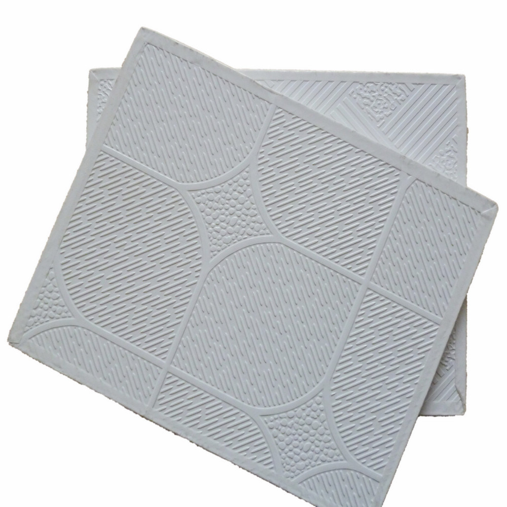 PVC Vinyl Laminated Gypsum Ceiling Tile/ Board (595/603mm*7mm)