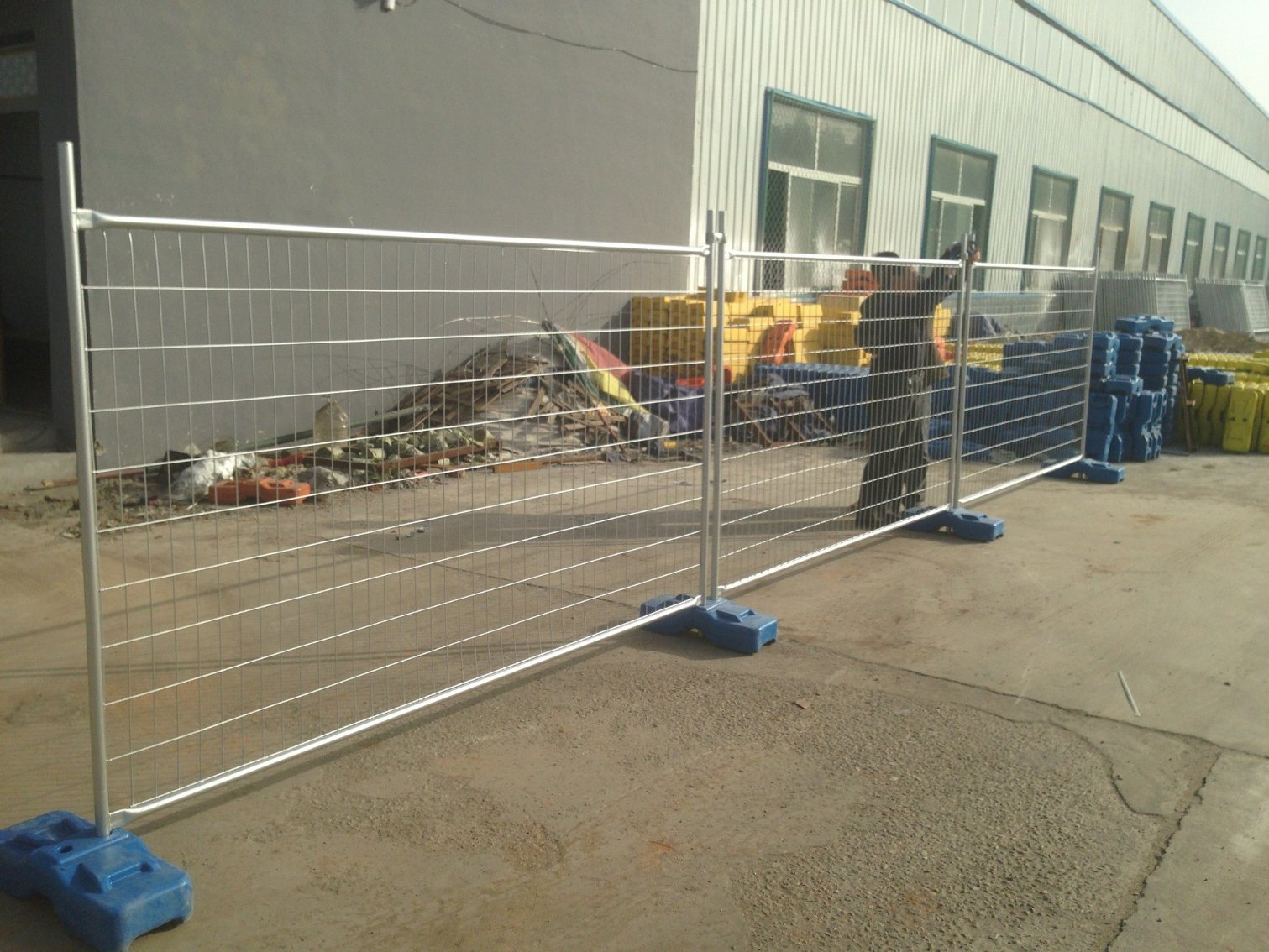 Temporary Hoarding Fence Hot Dipped Galvanized Steel Materials 2100mm X 2400mm for Oceania