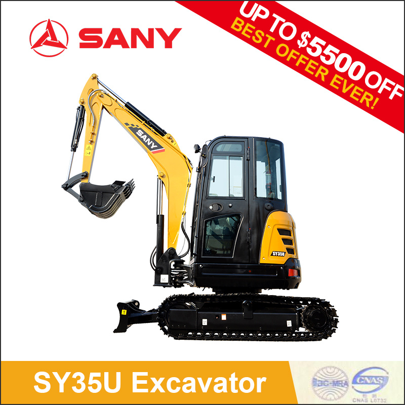 Sany Sy35 New Hydraulic Mini Excavator of Easy to Control