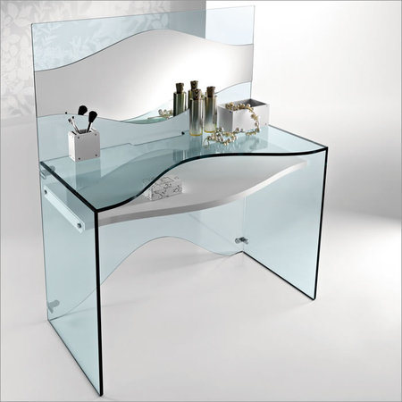 Glass Dressing Table (KX-01) - China Tempered Glass, Furniture Glass