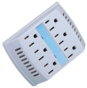 6 Outlet Grounding Wall Tap
