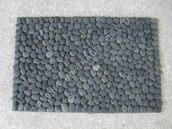China pebble door mat china stone mat pebble mat for River stone bath mat