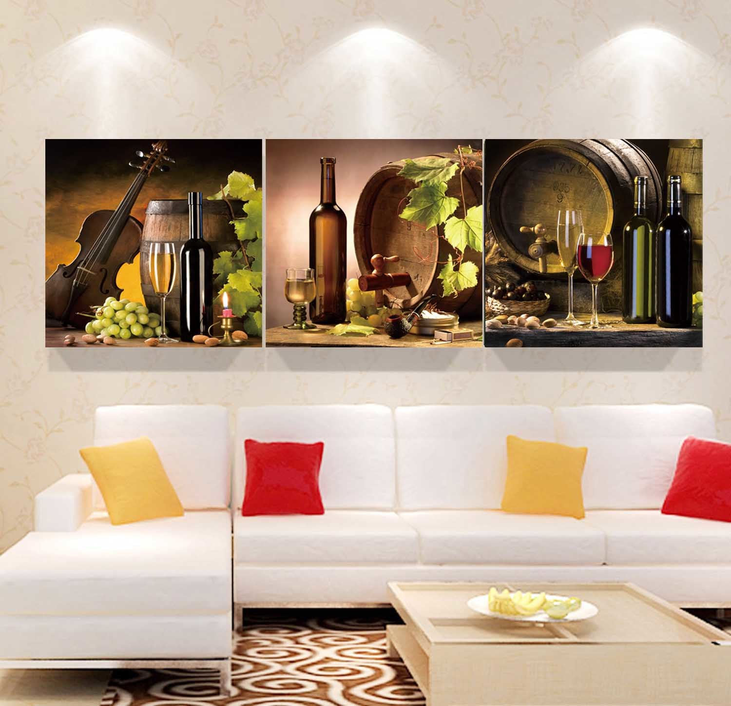 3 Panel Wall Art Oil Painting Abstract Painting Home Decoration Canvas Prints Pictures for Living Room Framed Art Mc-265