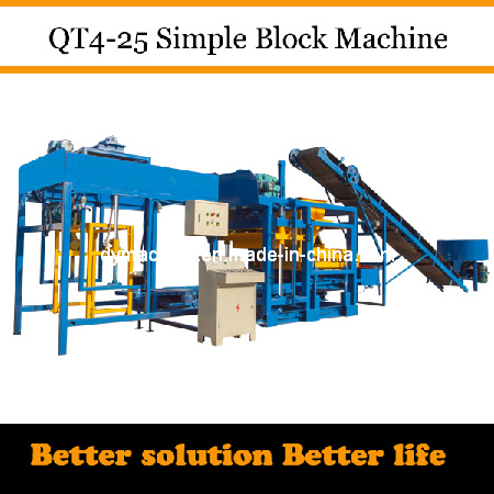 Cement Brick Making Machine India Qt4-25 Dongyue