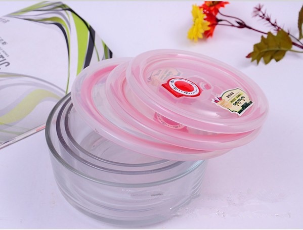 Airtight Pyrex Glass Salad Bowl Set/Glass Lunch Box