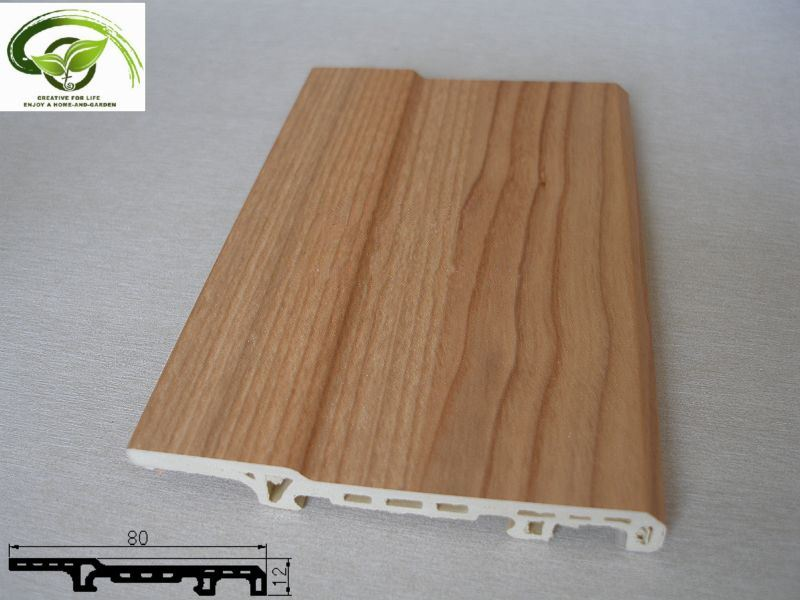 China wood plastic skirting board hst 8012b china for Wood skirting