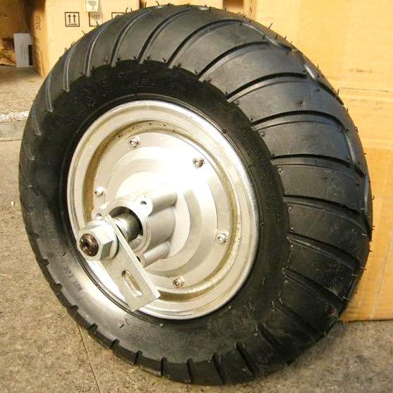 36v500w Hub Motor Brushless 10 Inch Tyre Rear Wheel